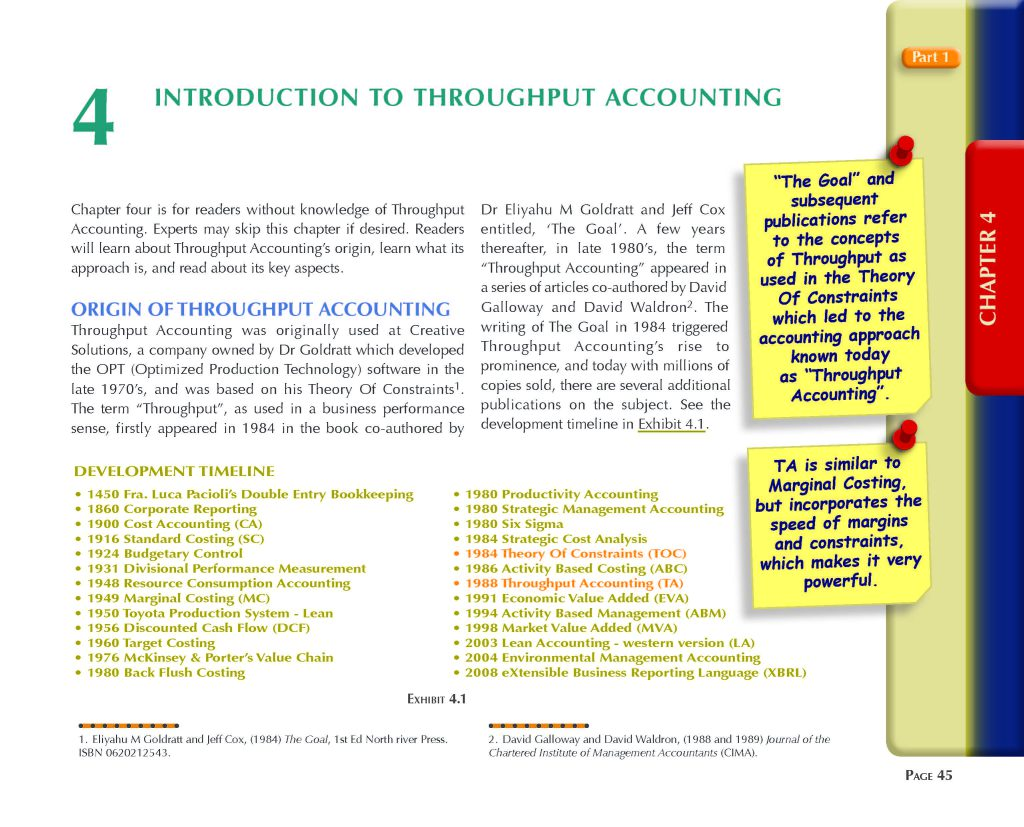 Throughput Accounting Techniques Design and Navigation Chapter 4